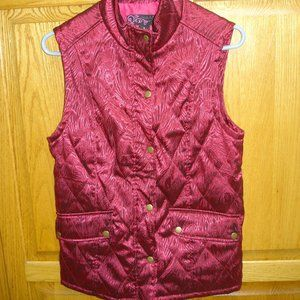 WOMEN'S PECK&PECK VEST SIZE SMALL RED